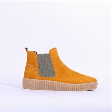 Gabor Platform Ankle Boot Gusset Lourdes - Mustard