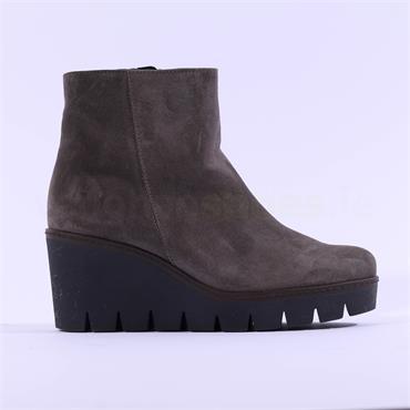 Gabor Platform Wedge Boot Utopia - Grey Suede