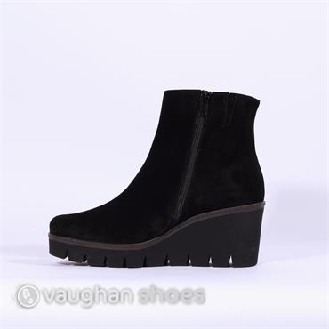 Gabor Platform Wedge Boot Utopia - Black