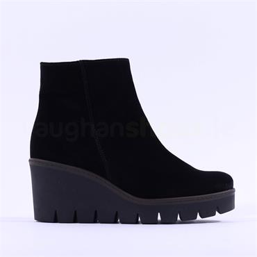 Gabor Platform Wedge Boot Utopia - Black Suede