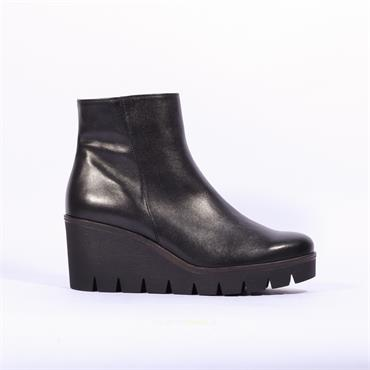 Gabor Platform Wedge Boot Utopia - Black Leather