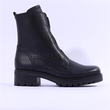Gabor Cosmos Elastic Lace Biker Boot - Black Leather