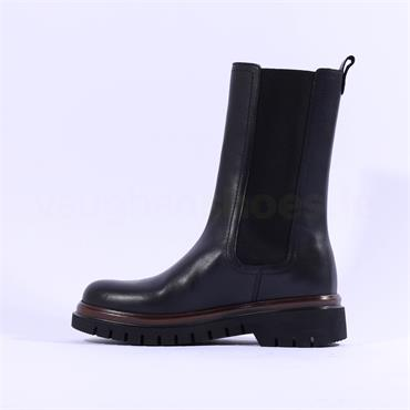 Gabor Cree Long Gusset Chelsea Boot - Black Leather