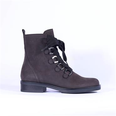 Gabor Thick Lace Military Boot Halkirk - Grey Nubuck