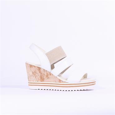 Gabor Strappy Wedge Sandal Worship - White