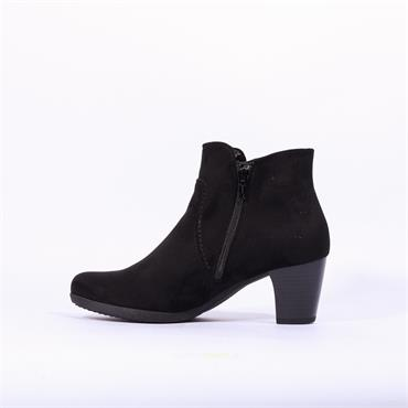 Gabor Block Heel Stitch Boot Amusing - Black Suede