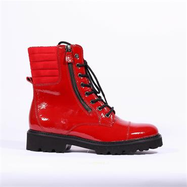 Gabor Laced Boot Bainbridge - Red Patent