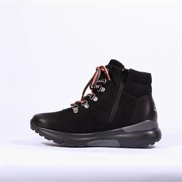 Gabor Rolling Soft Tex Lace Boot Kong - Black Nubuck