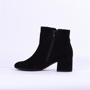 Gabor Candice Jewel Stud Buckle Boot - Black