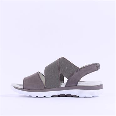 Gabor Elasticated Sandal Sacred - Dark Grey