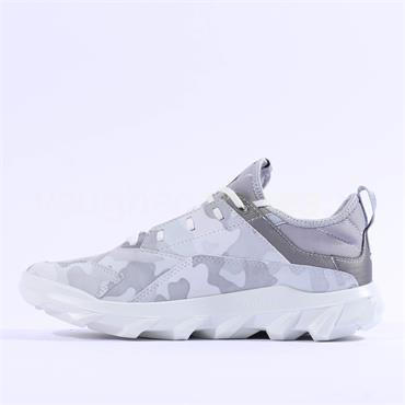 Ecco Women MX Trainer - White Silver Grey