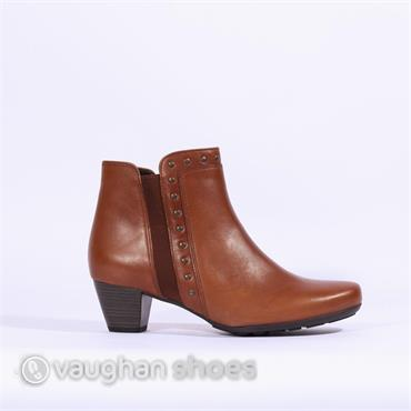 Gabor Ankle Boot Stud Gusset Cheyenne - Brown