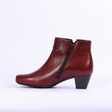 Gabor Kellis Folded Cuff Boot With Studs - Red