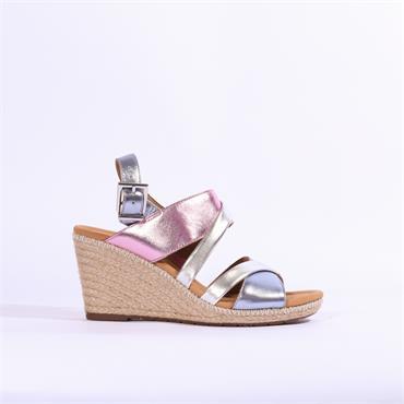 6f0838eead Gabor Karoo Espredrille Wedge Sandal - Pink Metallic Combi ...