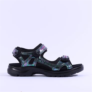 Ecco Women Multicolour Offroad Sandal - Oil Metallic