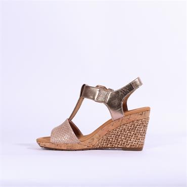 Gabor Espredrille Wedge Sandal Karen - Gold