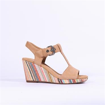 Gabor Espredrille Wedge Sandal Karen - Beige Combi