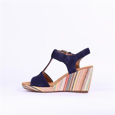 Gabor Espredille Wedge Sandal Karen - Navy Multi