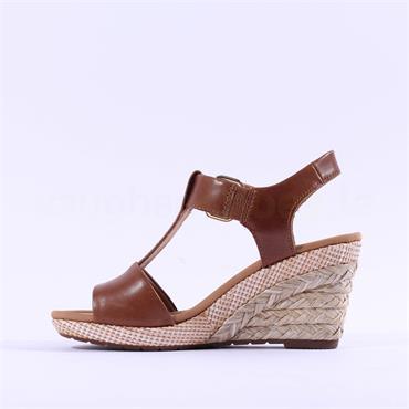 Gabor Espredille Wedge Buckle Sandal - Tan