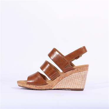 Gabor Strappy Wedge Sandal Kenmare - Camel