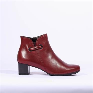 Gabor Block Heel Boot Strap Keegan - Red Leather