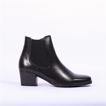 Gabor Block Heel Gusset Boot Level - Black Leather