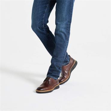 Ecco Men ST1 Hybrid Laced - Cognac Leather