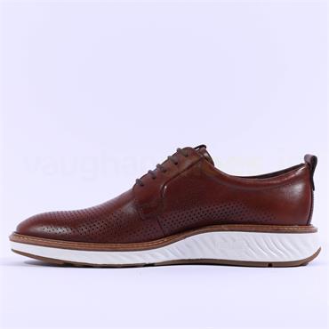Ecco Men ST.1 Hybrid Punched Upper Shoe - Cognac Leather
