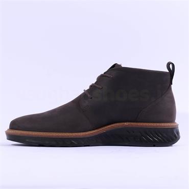 Ecco Men ST.1 Hybrid Lace GoreTex Boot - Licorice