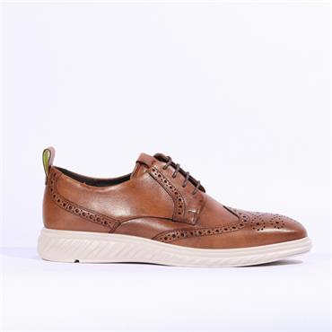 Ecco ST1 Hybrid Lite Laced Brogue - Amber