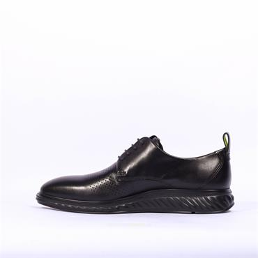 Ecco Men ST1 Hybrid Laced Shoe - Black Leather
