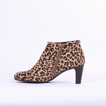 Gabor Fatale Thin Block Heel Ankle Boot - Leopard Combi
