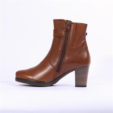 Gabor Wanda High Boot Buckle And Zip - Cognac Leather