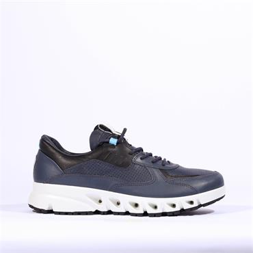 Ecco Men Multi-Vent Shoe - Navy Leather