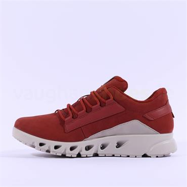 Ecco Women Multi-Vent GoreTex Shoe - Rust Nubuck