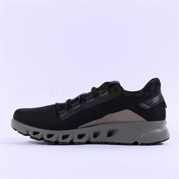 Ecco Men GoreTex Multi-Vent Shoe - Black Nubuck