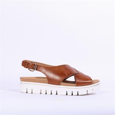 Gabor Patent Slingback Sandal Minto - Camel
