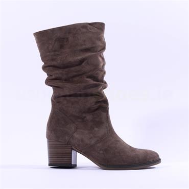 Gabor Ramona Mid Calf Block Heel Boot - Pepper