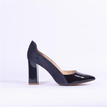 Caprice Effi Patent Toe High Heel - Navy