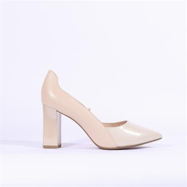Caprice Effi Patent Toe High Heel - Sand