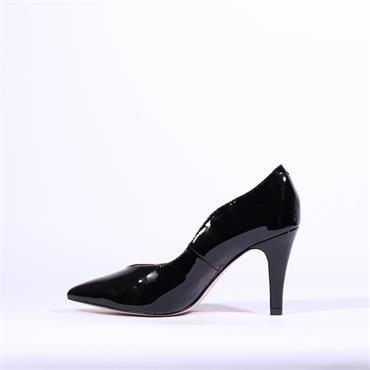 Caprice Pointed Toe High Heel Effi - Black Patent