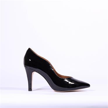 Caprice Pointed Toe High Heel Effi - Black Patent
