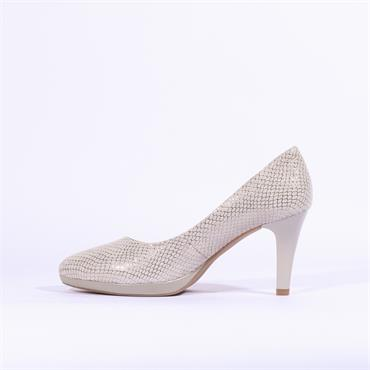 Caprice Ashley Platform High Heel - Grey Snake