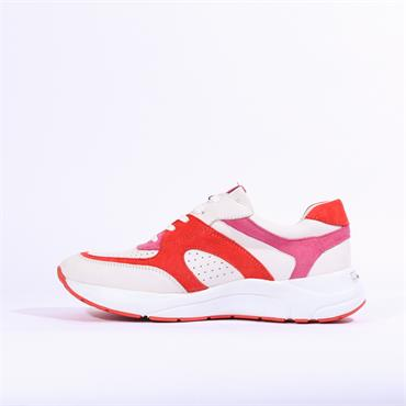 Caprice Kiss Chunky Sole Casual Trainer - White Coral