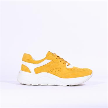 Caprice Kiss Chunky Sole Casual Trainer - Yellow