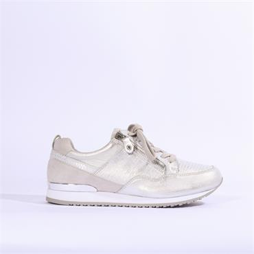 Caprice Platform Trainer Side Zip - Silver