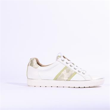 Caprice Manou Casual Laced Trainer - White Lime