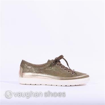 Caprice Laced Casual Shoe - Khaki