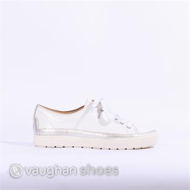 Caprice Laced Casual Shoe - White