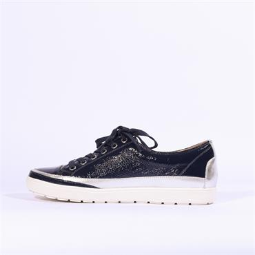 Caprice Laced Casual Shoe - Navy